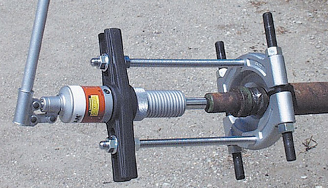 Hydra Grip-O-Matic puller application images