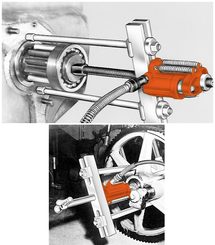 Hydraulic push puller application images