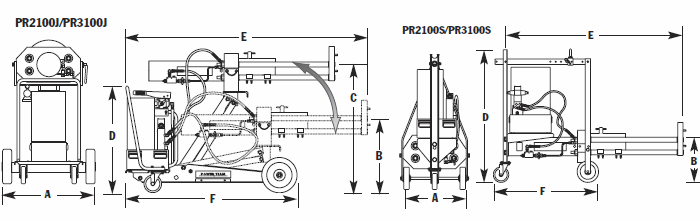 Roller bearing puller dimensions