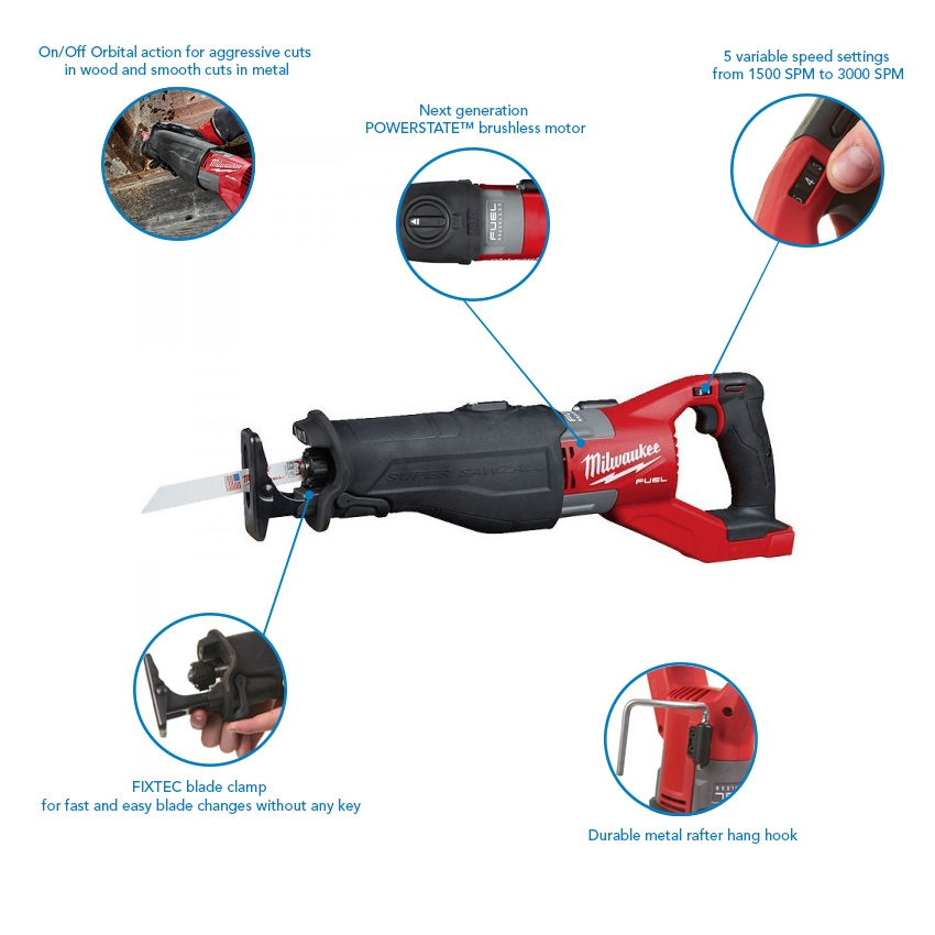 Milwaukee M18FSX-121C Fuel Super Sawzall with 12.0Ah Battery