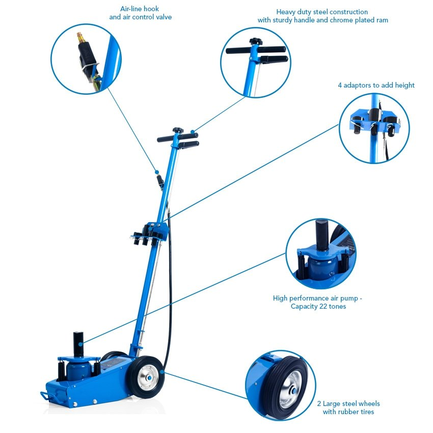 SGS 22 Ton Professional Pneumatic Air Service Trolley Jack