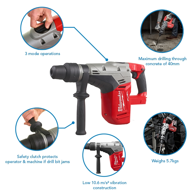 Milwaukee M18CHM-0 Fuel SDS Max Rotary Hammer (Body Only)