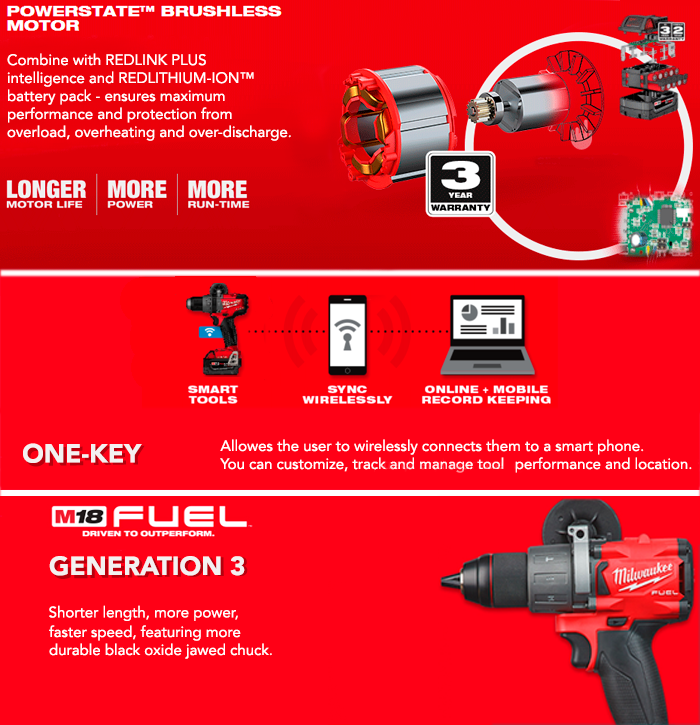 Milwaukee M18ONEPD2-X 18V GEN3 ONE-KEY Combi Drill With Case (Body Only)