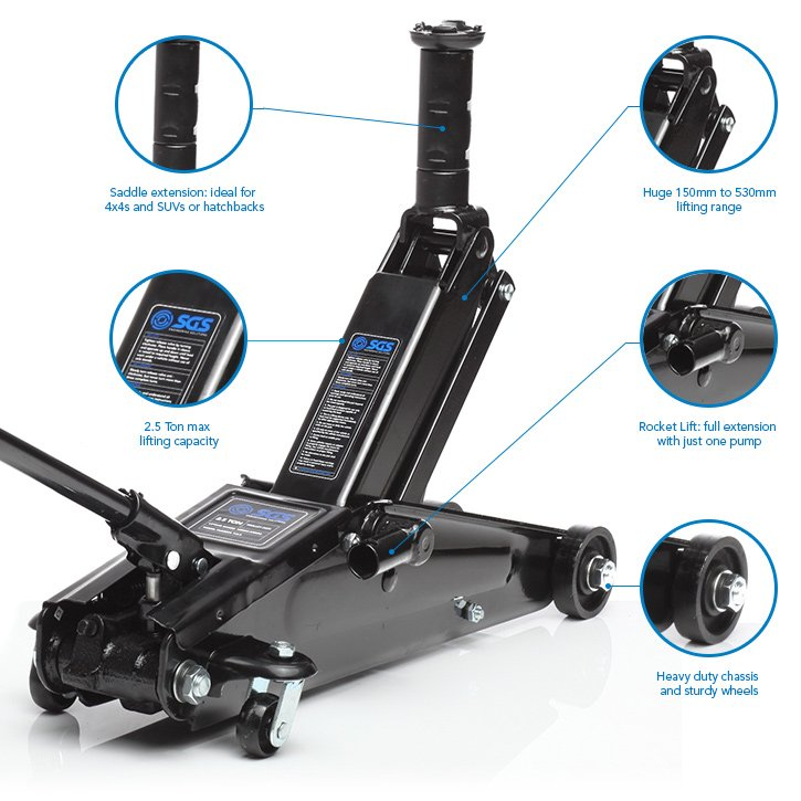 2 5 Ton High Lift Trolley Jack For 4x4 Vans Suv S