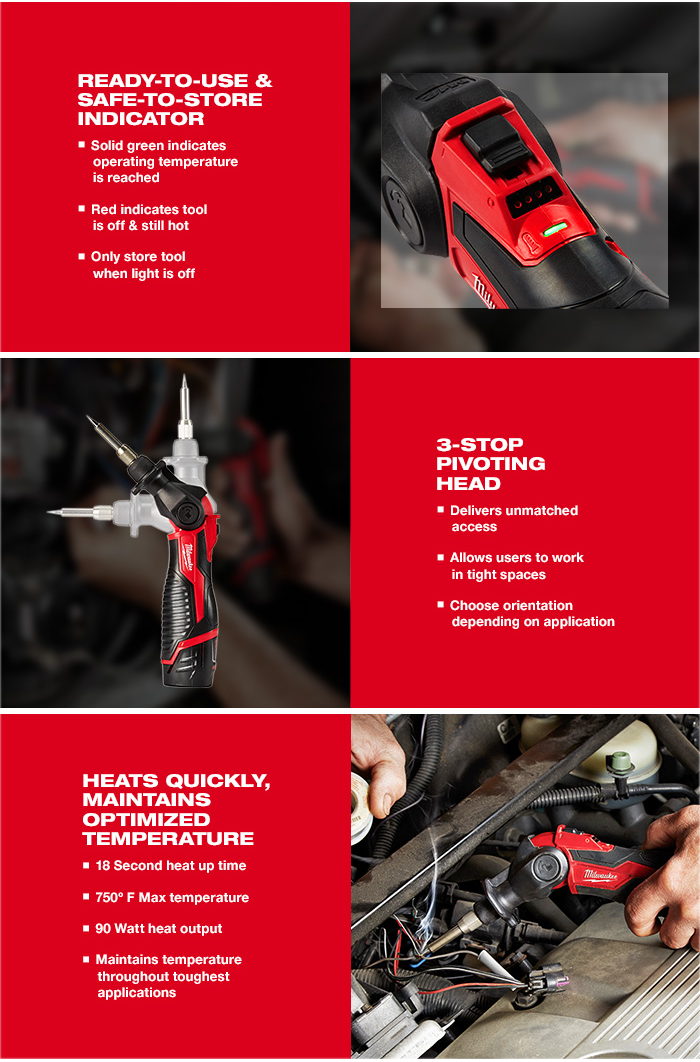 Milwaukee M12SI-0 12v Soldering Iron with FREE Case (Body Only)