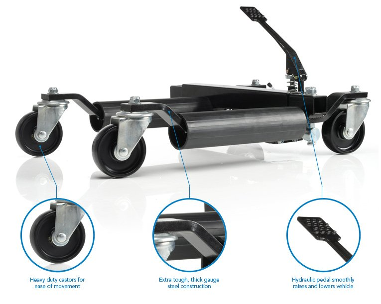 Four Vehicle Positioning Hydraulic Wheel Skates - 680kg Per Skate