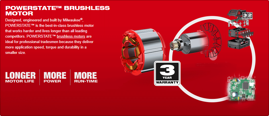 "Milwaukee M18ONEFHIWF34-502X Fuel 18v 2033Nm One Key 3/4"" Impact Wrench, x2 5Ah Batteries, Charger & Case"