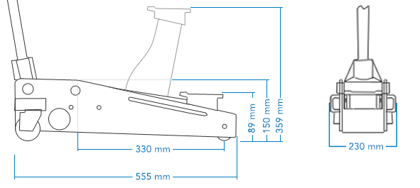 SGS 2 Ton Low Entry Trolley Jack & Four Axle Stands