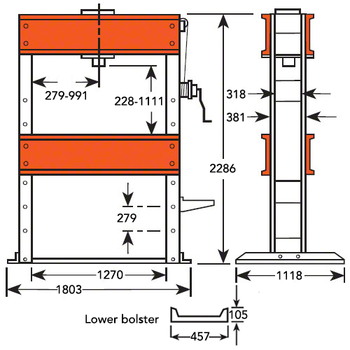 150 Ton Double Acting Hydraulic Press / 380v Electric Pump