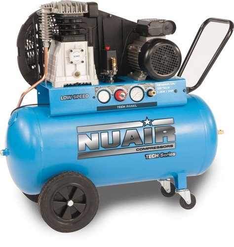 100 Litre Nuair Tech Series NB3800B - 3 Hp, 10 Bar, 230v