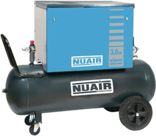 100 Litre Professional Nuair Silenced Portable Air Compressor - 11.6 CFM, 3 HP