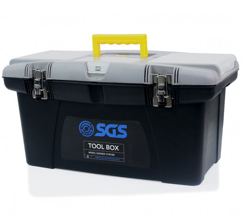 "22"" Tool Box With Tray & Storage Compartments"