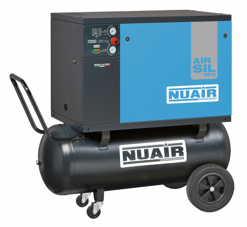 100 Litre Professional Nuair Silenced Portable Air Compressor - 9 CFM, 2 HP