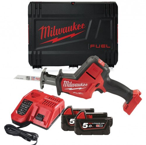Milwaukee M18FHZ-502X M18 18v 22mm Fuel Hackzall, x2 5Ah Batteries, Charger & Case