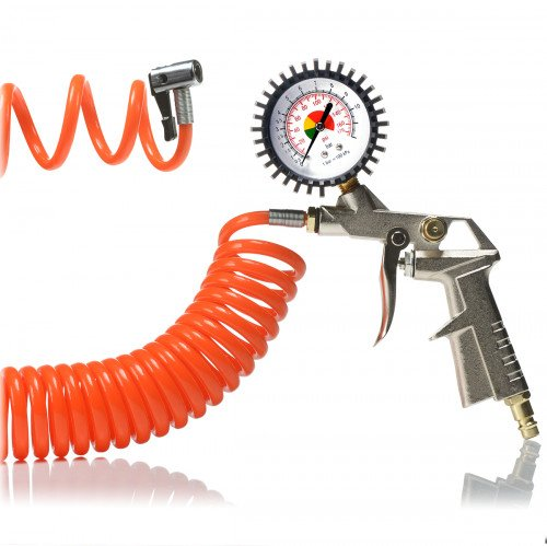 SGS Tyre Inflating Gun Kit with Gauge and Recoil Hose
