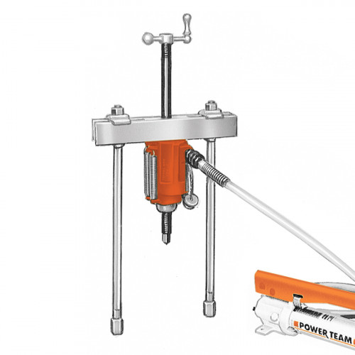 17.5 Ton Hydraulic Push-Puller Set - Puller, Cylinder & Accessories