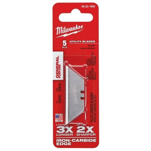 Milwaukee 48221905 5 Piece General Purpose Utility Snap Off Blades