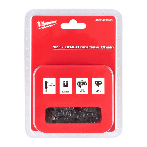 """Milwaukee 4932471385 12"""" / 304.8 mm Saw Chain for M18FCHSC Chainsaw"""