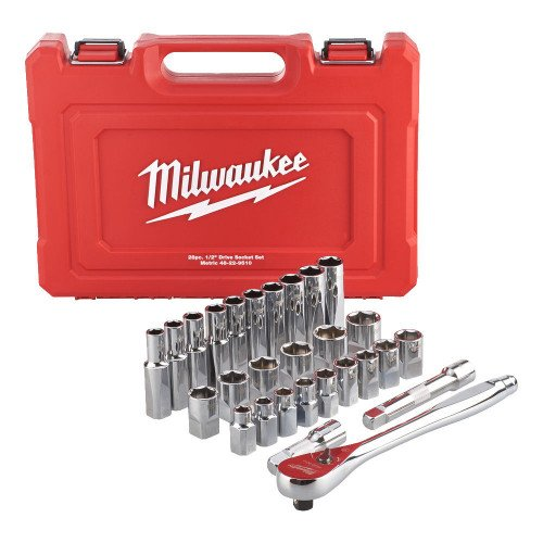 MIlwaukee 4932471864 Ratchet and Socket 28 pcs Set