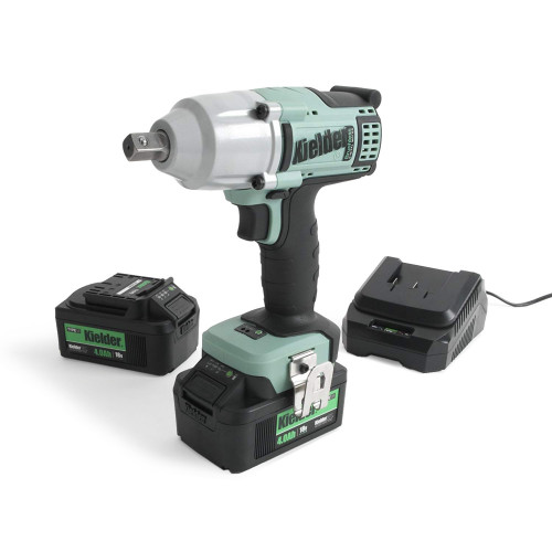 "Kielder KWT-012-51 700Nm 18V 1/2"" Brushless Impact Wrench, 2x 4.0Ah Batteries, Charger and Case"