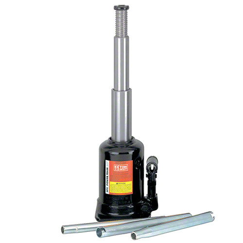 11 Ton Power Team Telescopic Bottle Jack - Lifetime Warranty