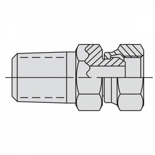 "Swivel Connector Fitting: 8"" NPSM male - 1/4"" NPSM female - 9673"