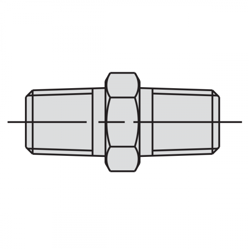"""43mm Male Connector Fitting: 1/4"""" - 3/8"""" NPTF - 9674"""