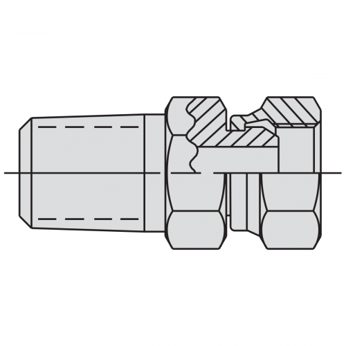 "Swivel Connector Fitting: 3/8"" NPTF male - 3/8"" NPSM female - 9675"