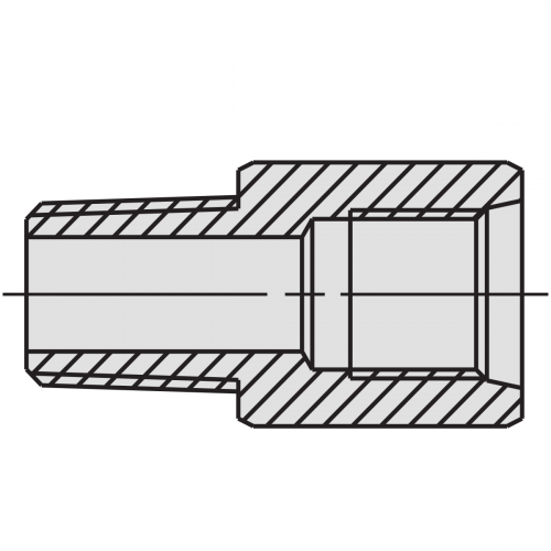 """Connector Fitting: 1/4"""" NPTF male - 3/8"""" NPTF female - 9689"""