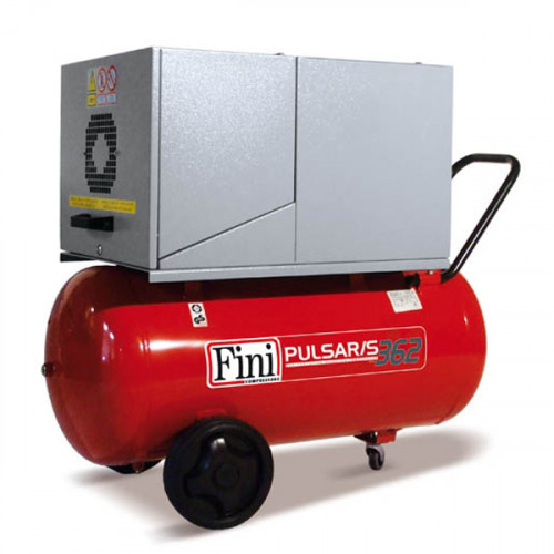 90L Fini Professional Pulsar Silenced Air Compressor - 11 CFM, 3 HP