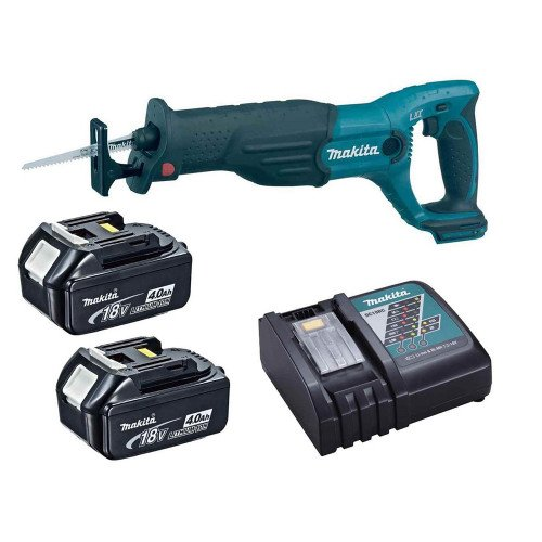 Makita DJR186RME 18V Reciprocating Saw with 2 x 4.0Ah LXT Li-ion Batteries and Charger
