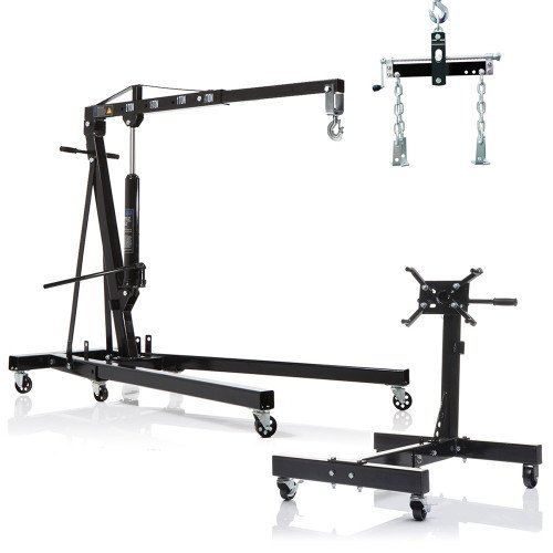 2 Ton Professional Lifting/Hoisting Set with Engine Crane, Stand & Load Leveller