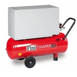 50L Fini Professional Pulsar Silenced Oil Free Air Compressor - 5.4 CFM, 1.5 HP