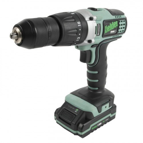 Kielder KWT-001-11 18V 52Nm Professional Heavy-Duty Brushless Combi Drill with 1.5Ah Battery & Charger