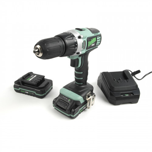 Kielder KWT-001-02 18V 52Nm Professional Heavy-Duty Brushless Drill/Driver with 2 x 1.5Ah Batteries & Charger