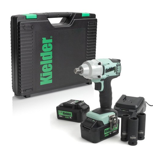 "Kielder KWT-002-08 430Nm 18v 1/2"" Impact Wrench Bundle with 2 batteries, charger and sockets"