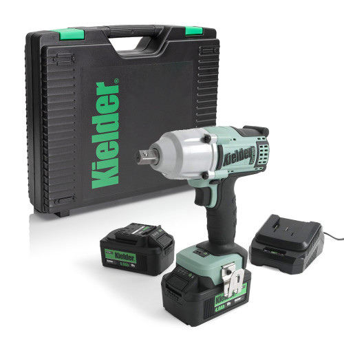 """Kielder KWT-002-19 18V 3/8"""", 220Nm Brushless Impact Wrench, 2x 4.0Ah Batteries, Charger and Case"""