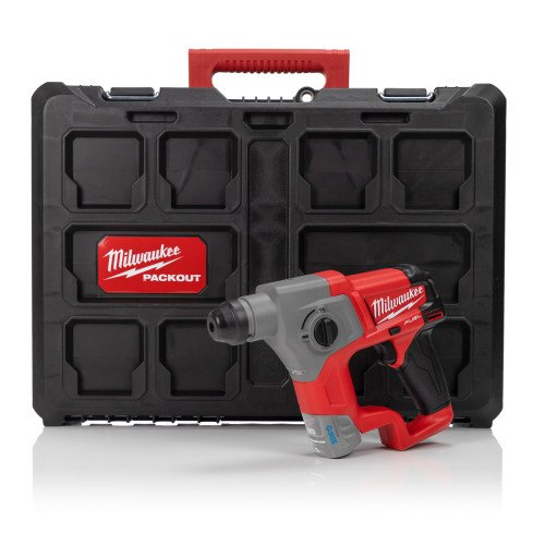 Milwaukee M12CH-P 12V Compact SDS Hammer Drill with Packout Case (Body Only)