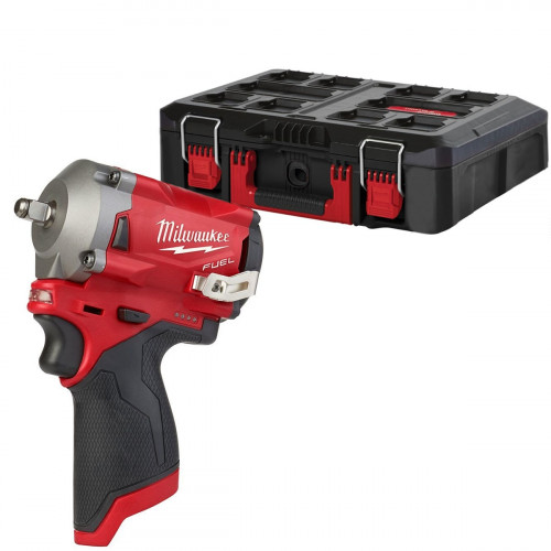"""Milwaukee M12FIW38-0 Fuel 3/8"""" 339Nm Impact Wrench & PackOut Case (Body Only)"""