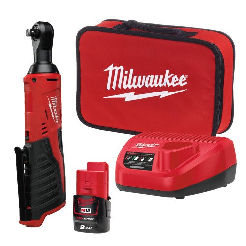 Milwaukee M12IR-201B-(3/8) 12V 3/8 Inch Sub Compact Ratchet with 2Ah battery, charger and case