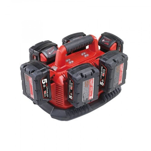 Milwaukee Multibay Charger & 6x 5.0Ah Batteries Kit