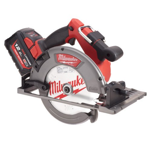 Milwaukee M18FCSG66-121C 66mm Circular Saw for Wood and Plastics, 12Ah Battery, Charger and Case