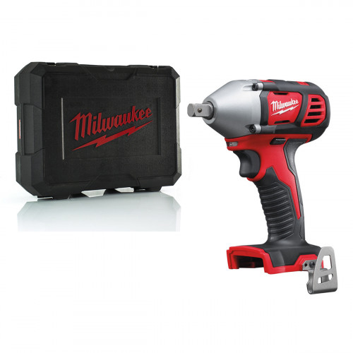 "Milwaukee M18BIW12-C 18V Compact 1/2"" Impact Wrench with Case"