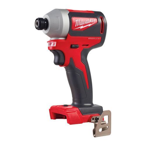 Milwaukee M18BLID2-0 M18 18V Cordless Impact Driver - 1/4 Inch Hex Drive Reception, Brushless Motor, 180 Nm Torque, Compact Design (Body Only)