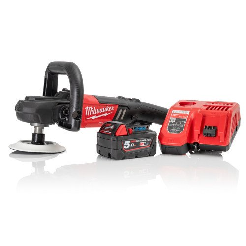 Milwaukee M18FAP180-501 18V Fuel Polisher, 5.0Ah Battery & Charger