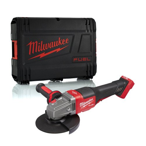 Milwaukee M18FHSAG125XPDB-0 M18 18V Cordless Angle Grinder - 125mm Disc Support, High Performance FUEL Brushless Motor, With Case