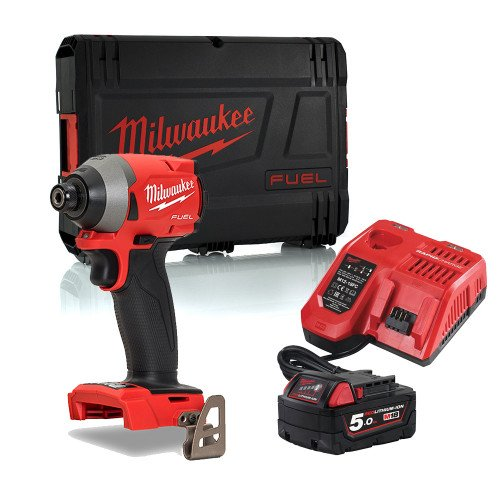 Milwaukee M18FID2-501X 18V Gen 3 Fuel Impact Driver With 5.0Ah Battery, Charger & Case