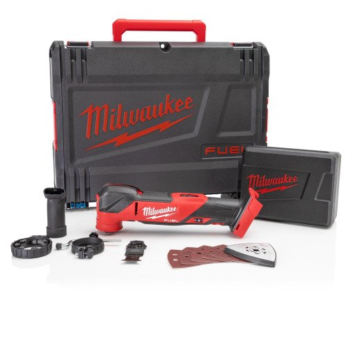 Milwaukee M18FMT-0X M18 18V Cordless Multi-Tool - FUEL Brushless Motor, Accessories, 10000 to 20000 OPM, Tool and Accessory Case (Body Only)