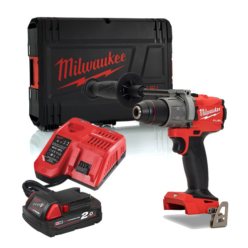 Milwaukee M18FPD2-201X 18V 135Nm GEN3 Brushless Fuel Combi Drill, 2.0Ah Battery, Charger & Case