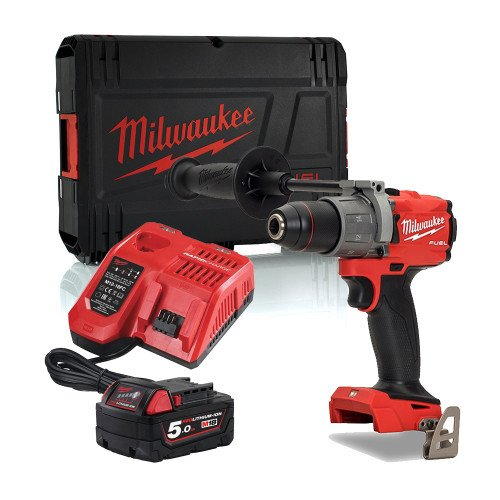 Milwaukee M18FPD2-501X 18V 135Nm GEN3 Brushless Fuel Combi Drill, 5.0Ah Battery, Charger & Case
